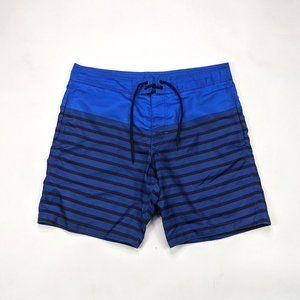 Gap Mens Blue Stripe Size L Board Shorts
